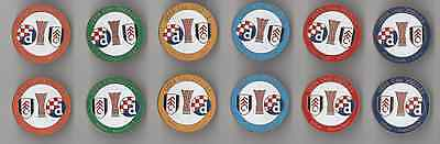metal pin Fulham London + Stoke City England