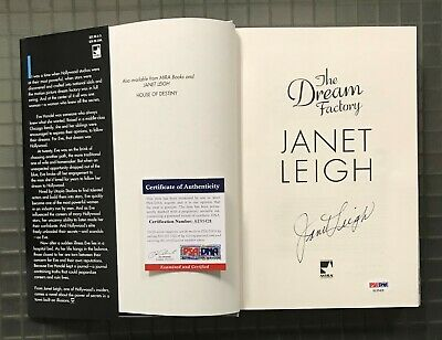 """JANET LEIGH Psycho Actress Signed Autograph """"The Dream Factory"""" Book PSA/DNA COA"""