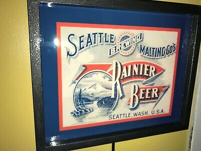 Rainier Seattle Sideways Beer Tavern Bar Man Cave Adverising Lighted Sign