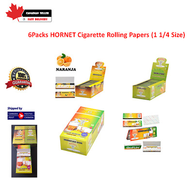 7 packs flavored Hornet rolling papers (1 1/4 Size)