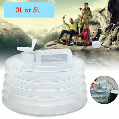3L, 5L Collapsible Folding Water Dispenser Portable Drinks Container Camping Tap