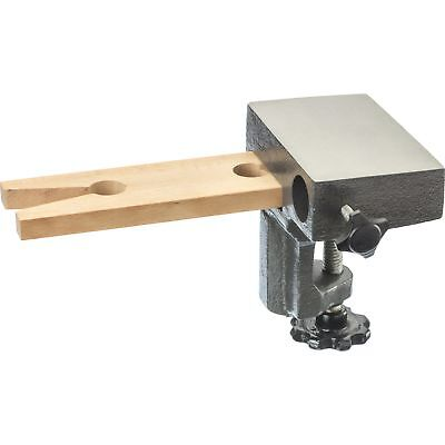 Clamp On Bench Pin Anvil Miniature Vise Jewelers Holding Wooden Pin/Ring Mandrel