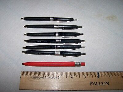 6 SKILCRAFT Ball Point Pens & 1 Red Crayon Grease Pen marked US GOVERNMENT