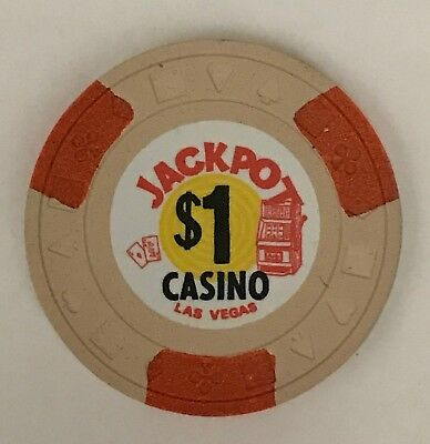 Jackpot Las Vegas $1 Casino Chip Obsolete OBS Old 1971 Mint Condition