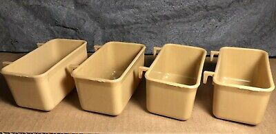 4 Lot   Seed Cup for Bird Cage   Tan   Old Stock   Never Used