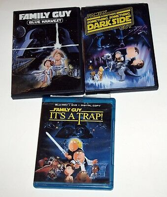 Family Guy Star Wars Trilogy: DVD/Bluray Blue Harvest, Dark Side, It's a Trap