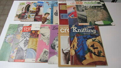 18) Vintage Knit & Crochet Pattern Books / Leaflets, Great Assortment!