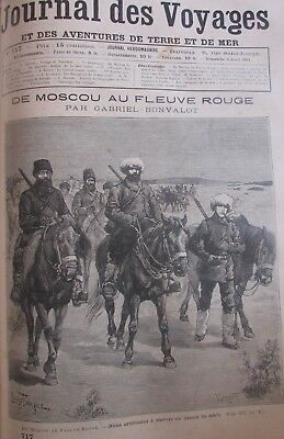 Journal Des Voyages (Spiral Bound 3 No. of 1891 Travel - Moscow to the Fleuve