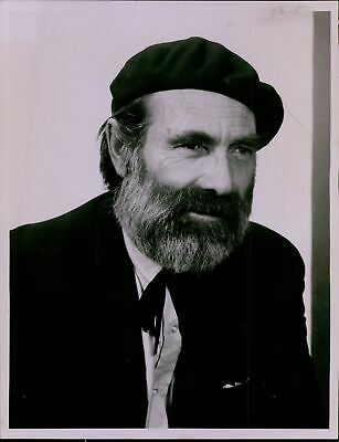 LD188 1967 Original Photo GARY MERRILL The Hemingway Hero Bearded Broadway Actor