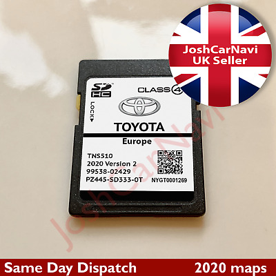 NEW TOYOTA TNS510 V2 NAVIGATION SD CARD MAP UK and EUROPE 2019