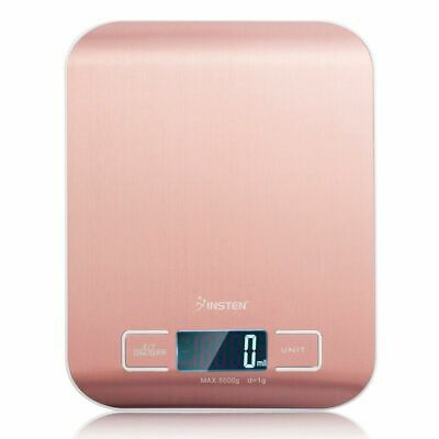 5000g X 1 g LCD Digital Electronic Kitchen Food Diet Weight Scale - Rose Gold