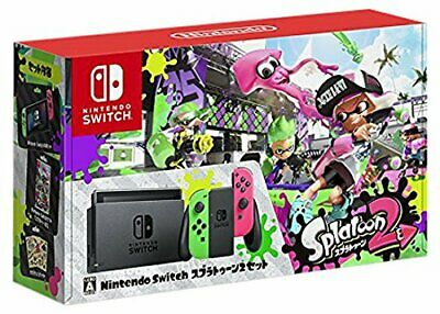 New Nintendo Switch Splatoon 2 limited edition console Neon Green Neon Pink F S