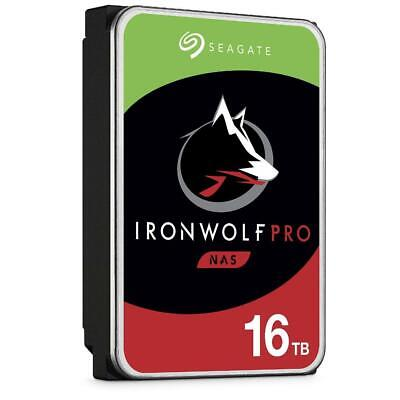 "Seagate 16TB IronWolf PRO NAS HDD SATA 3.5"" Hard Drive 7200RPM 256MB Cache"