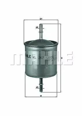 Mahle Fuel filter In-Line Car KL257 replaces G11465 WF8385 OE 30636704 76640981