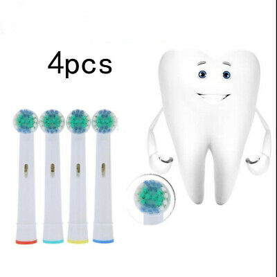 4pcs Electric Tooth Brush Replacement Heads For Braun Oral-B Cross Action New