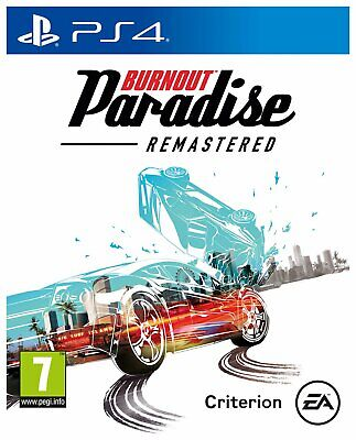 Burnout Paradise Remastered Sony Playstation PS4 Game 7+ Years