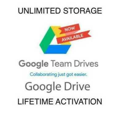 Unlimited Google Drive Lifetime Access (for your GMail or GSuite account )