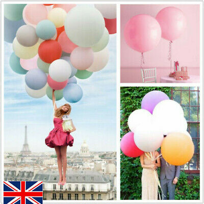 5x12/36 inch Round Confetti Latex Helium Giant Balloons Party Birthday Wedding