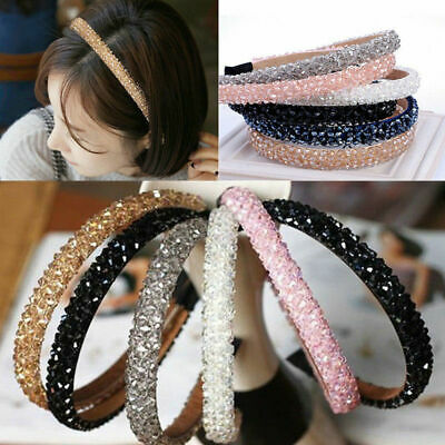 Women Crystal Hair band Bling Headband Bead Rhinestone Headwear Wedding Jewelry