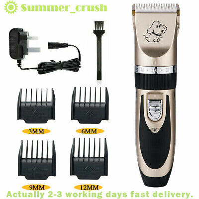 Electric Pet Dog Grooming Clippers Cordless Pet Hair Shaver Trimmer Kit UK