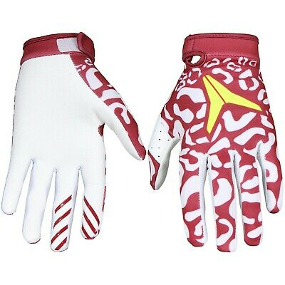 Alias Youth Aka Motocross Bike Gloves - Cheetah Maroon Red / White