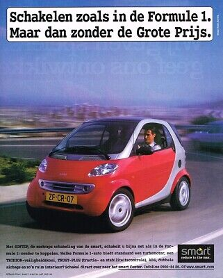 1999 Smart Fortwo Softip (NL, 1pg.) Advertisement 2990