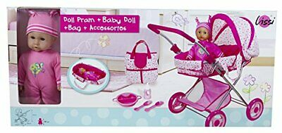Lissi Doll Pram with 13 Baby Doll & Accessories Role Play Toy