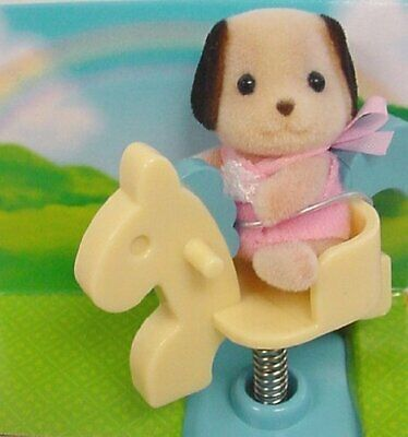 Calico Critters - Baby Carry Case - Beagel on Spring Horse