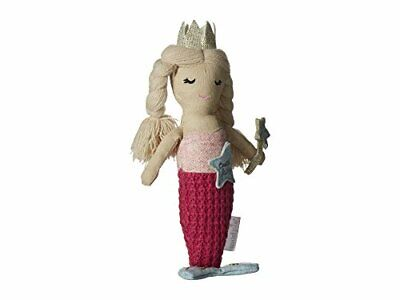 Mud Pie Womens Mermaid Tooth Fairy Doll Pink One Size