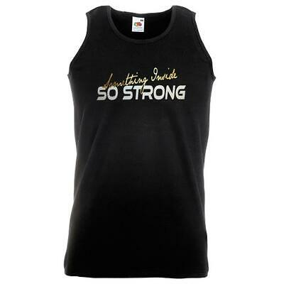Unisex Black Something Inside So Strong Vest Labi Siffre Rebellion