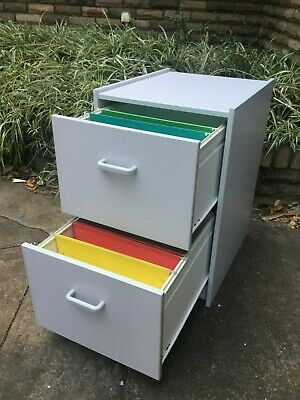 Filing Cabinet  - 2 drawer  -  Comm Quality -  gc  -  LIGHT GREY