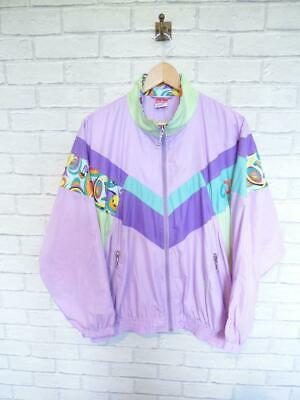 f13ea610 Vintage Shell Suit Jacket Top Festival Tracksuit Windbreaker 80s/90s XL  #D5681