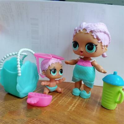 2PCS Original LOL Surprise Doll MERBABY Family & Bag THEATER Toys Gifts For Girl