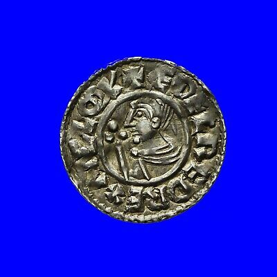 Saxon Aethelred ii Crvx type penny  Totnes mint  S1148