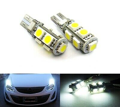 2x Xenon Amber 9 SMD LED Side Light W5W T10 501 Fits VW RTSR1017A
