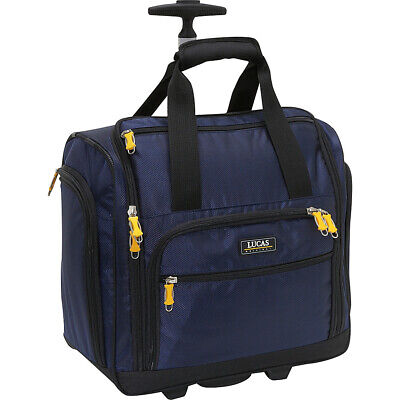 """LUCAS Wheeled Underseat Cabin Bag 16"""" 3 Colors Softside Carry-On NEW"""