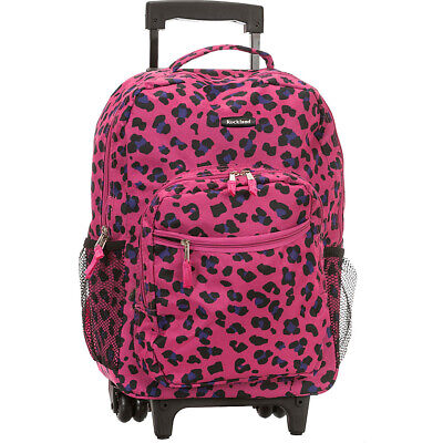 "Rockland Luggage Roadster 17"" Rolling Backpack 18 Colors"