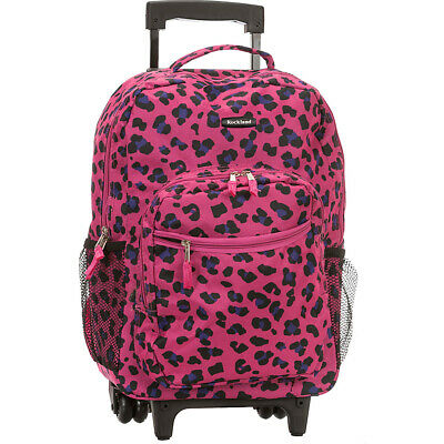 "Rockland Luggage Roadster 17"" Rolling Backpack 19 Colors"