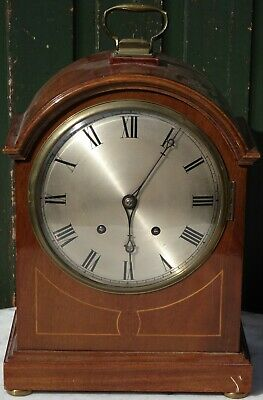 Incrediable Old Very Large Inlaid Ting Tang Bracket Clock Strikes On 5 Gongs