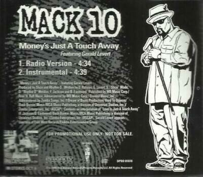Mack 10: Money's Just A Touch Away PROMO Music CD Gerald Levert Instrumental 2tk