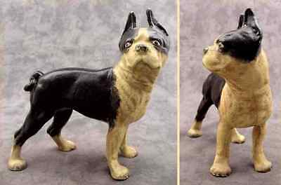 BOSTON TERRIER BULL DOG Cast Iron HEAVY DOORSTOP BANK STATUE
