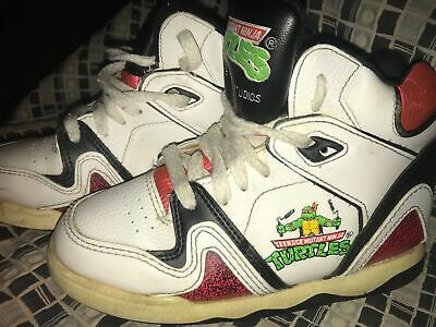 VTG 90s KIDS 13 TEENAGE MUTANT NINJA TURTLES HIGH TOP TMNT 1991 SNEAKER SHOES