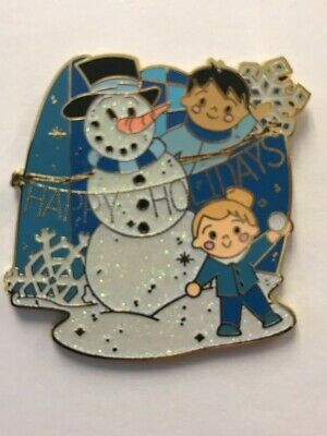 Disney Parks Disneyland 2017 It's a Small World Holiday Snowman Mystery LR Pin