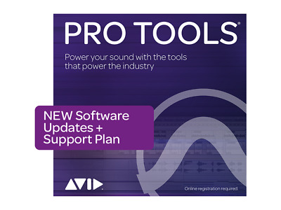 Avid Pro Tools 1-Year Software Updates + Support Plan Annual Subscription