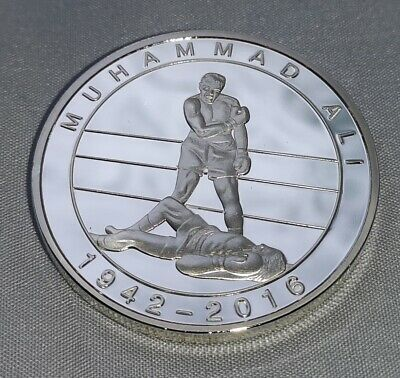 Muhammad Ali Silver 3D Coin Film Knock Out Hologram Olympic Champion World Boxer