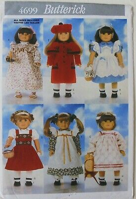 """Butterick 4699 Nightgown Dress Capelet Shoes 18"""" Doll Clothes Sewing Pattern"""