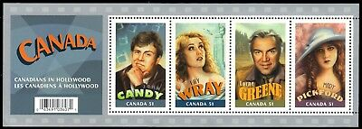 CANADA 2153 - Canadians in Hollywood Souvenir Sheet (pa90956)