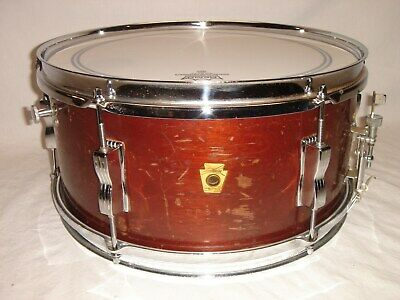 "Vintage 1962 Ludwig 6-1/2 x 14"" Natural Mahogany Lacquer Snare Drum"
