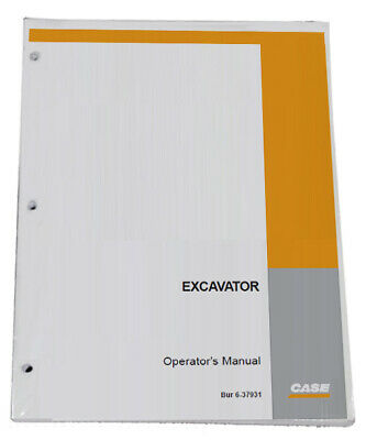 CASE CX350D Crawler Excavator Owners Manual Operators Maintenance Book -48012643
