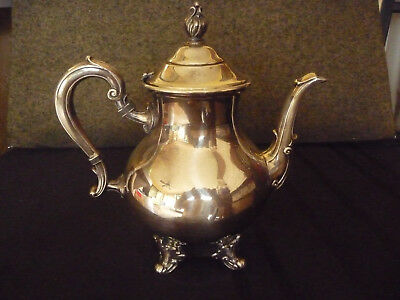 Silverplate Teapot  Vintage Dodge Inc. Empire Colonial